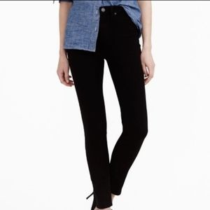 J. Crew B1298 Black Lookout High Rise Skinny Jeans